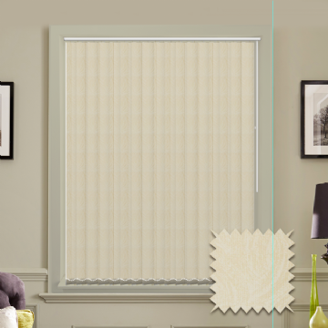 Made to Measure Vertical Blinds in PVC Blackout fabric in Samba Oyster